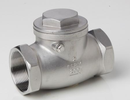 304 H14W   不锈钢旋启式丝扣止回阀